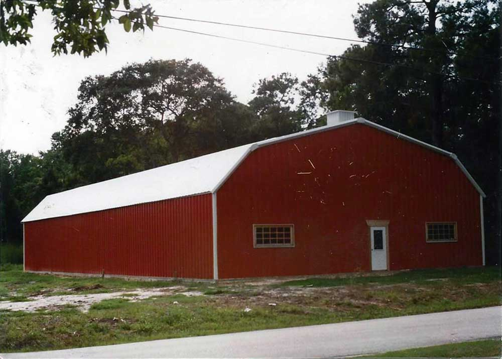 Building gallery aerohaus metal buildings inc for Gambrel roof metal building